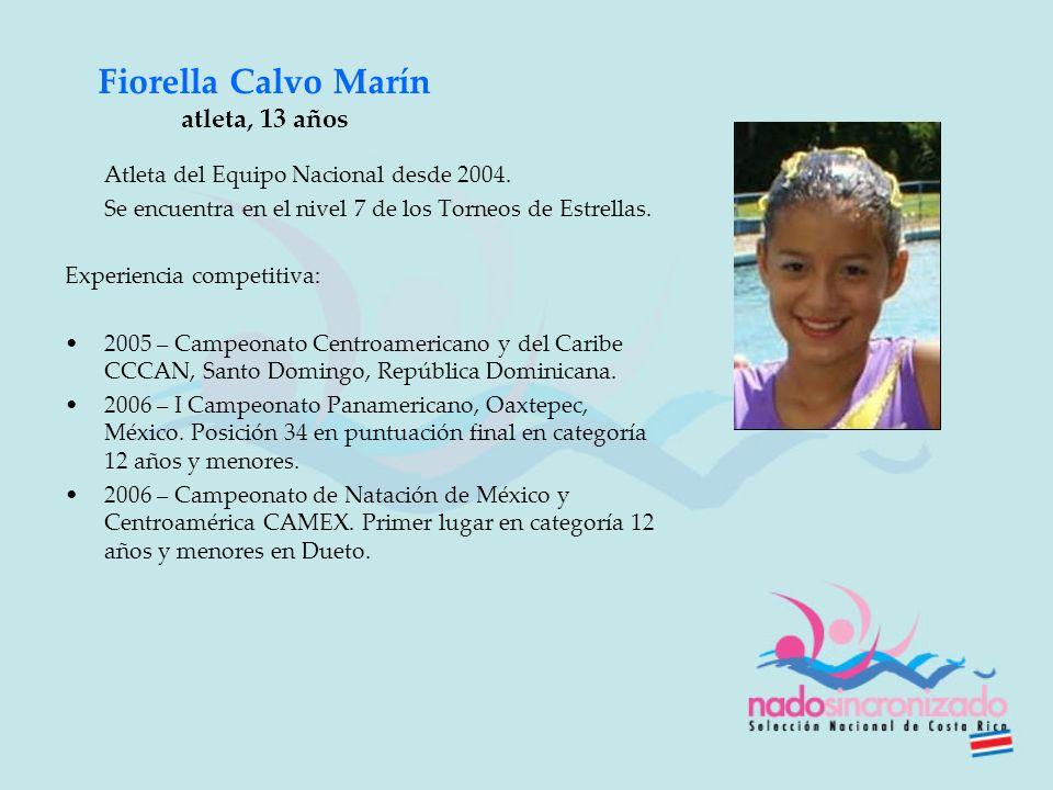 Fiorella Calvo Marín atleta, 13 años