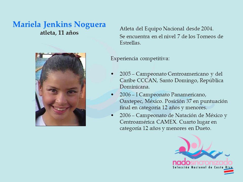 Mariela Jenkins Noguera atleta, 11 años