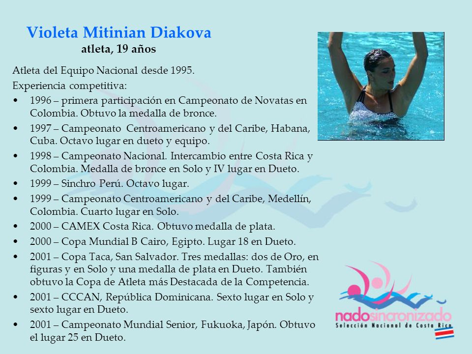 Violeta Mitinian Diakova atleta, 19 años
