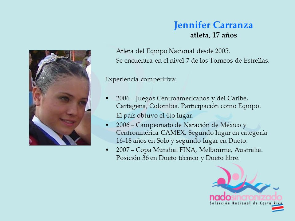 Jennifer Carranza atleta, 17 años