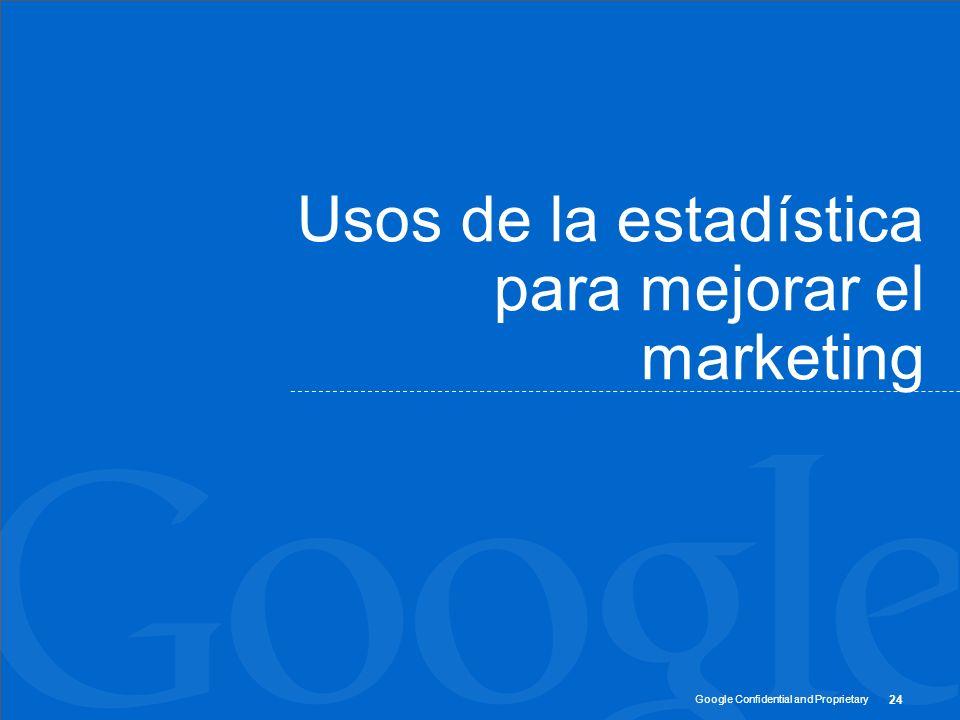 Usos de la estadística para mejorar el marketing