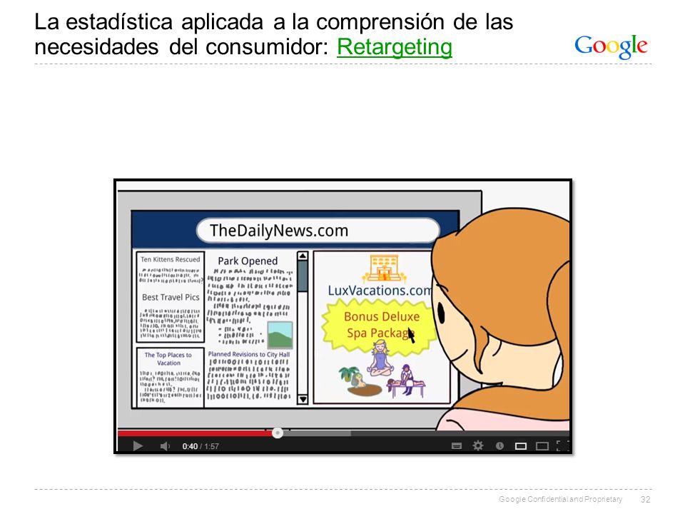 La estadística aplicada a la comprensión de las necesidades del consumidor: Retargeting