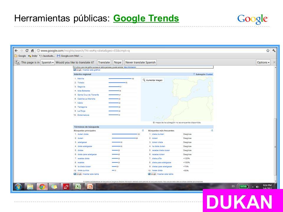 Herramientas públicas: Google Trends