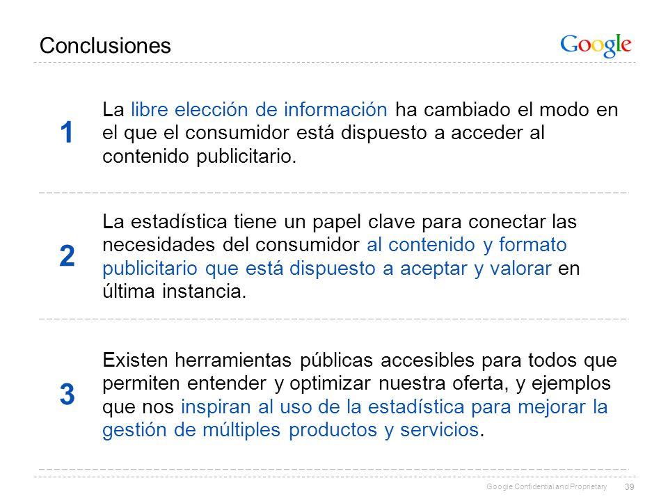Conclusiones 1. La libre elección de información ha cambiado el modo en el que el consumidor está dispuesto a acceder al contenido publicitario.