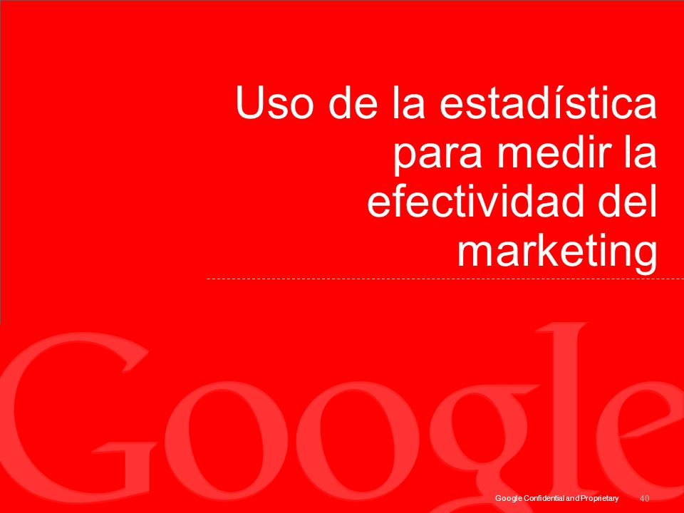 Uso de la estadística para medir la efectividad del marketing