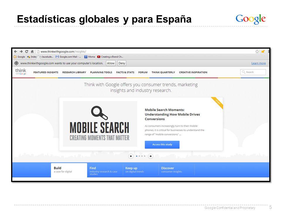 Estadísticas globales y para España