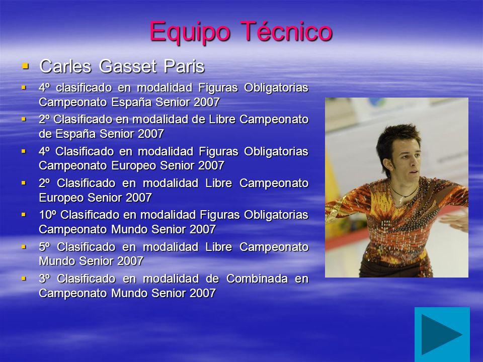 Equipo Técnico Carles Gasset Paris