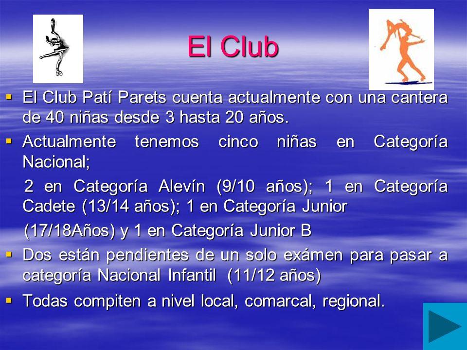 El Club El Club Patí Parets cuenta actualmente con una cantera de 40 niñas desde 3 hasta 20 años.