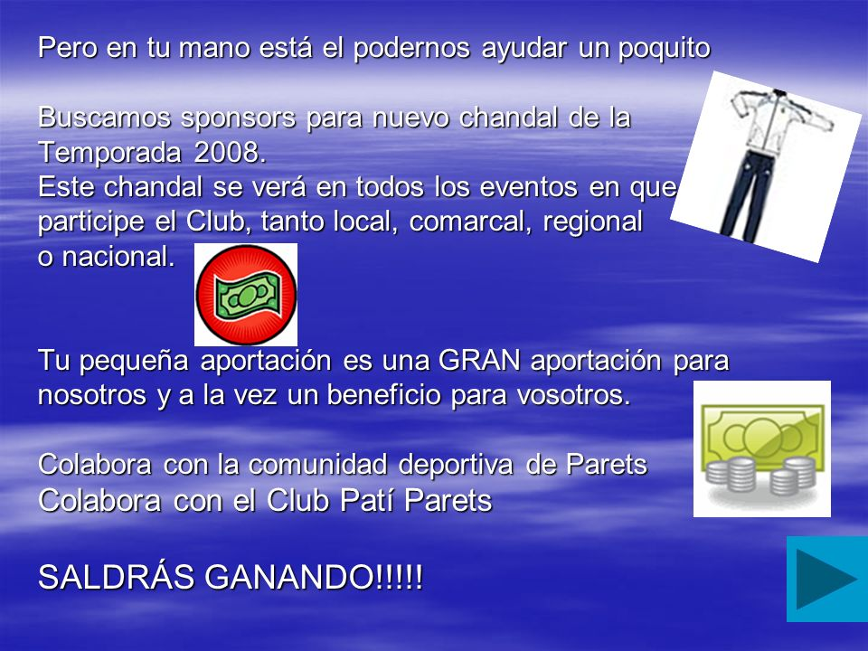 SALDRÁS GANANDO!!!!! Colabora con el Club Patí Parets