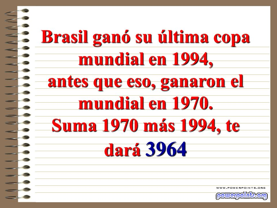 Brasil ganó su última copa mundial en 1994,