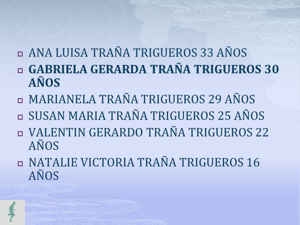 ANA LUISA TRAÑA TRIGUEROS 33 AÑOS