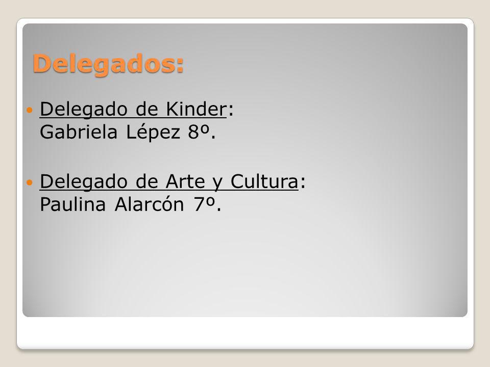 Delegados: Delegado de Kinder: Gabriela Lépez 8º.