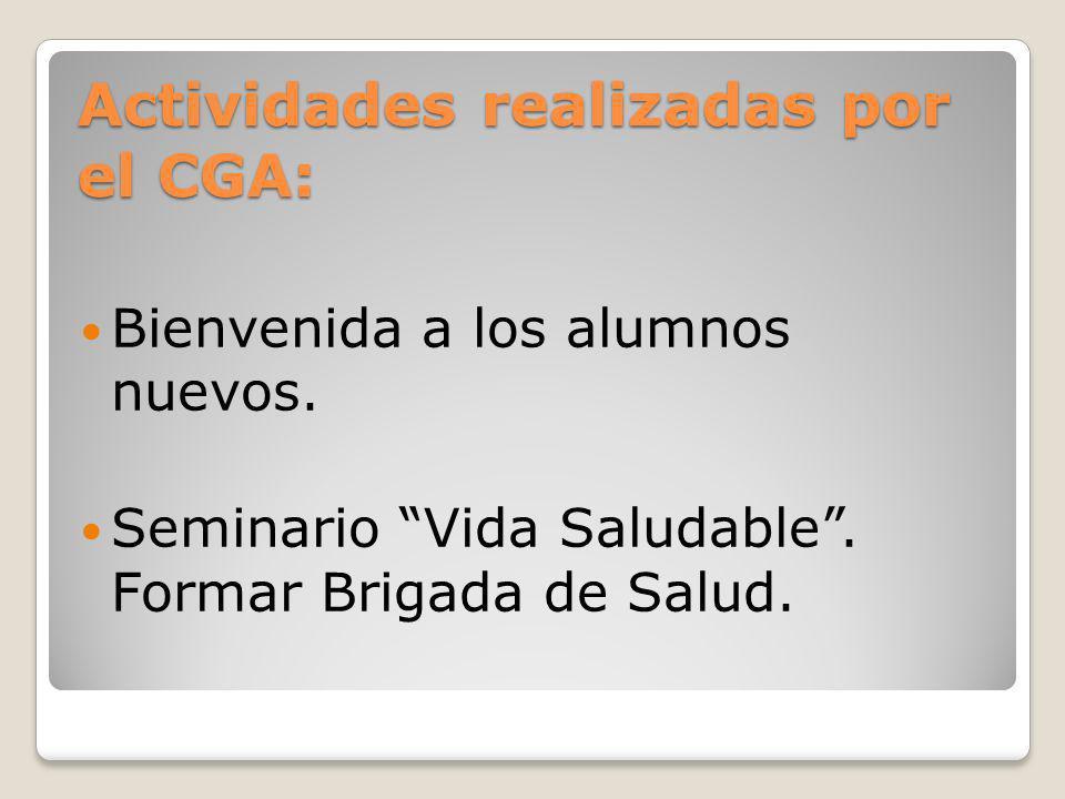 Actividades realizadas por el CGA: