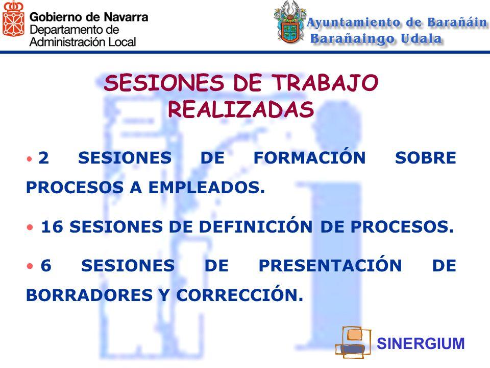 SESIONES DE TRABAJO REALIZADAS