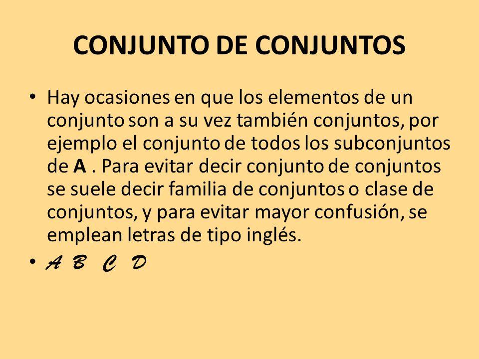 CONJUNTO DE CONJUNTOS