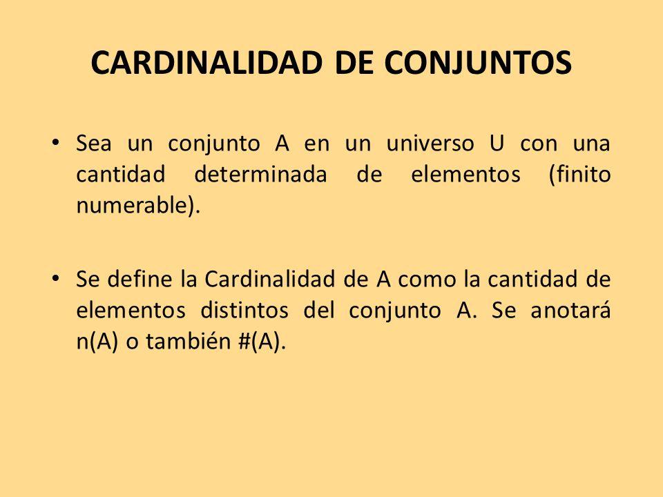 CARDINALIDAD DE CONJUNTOS