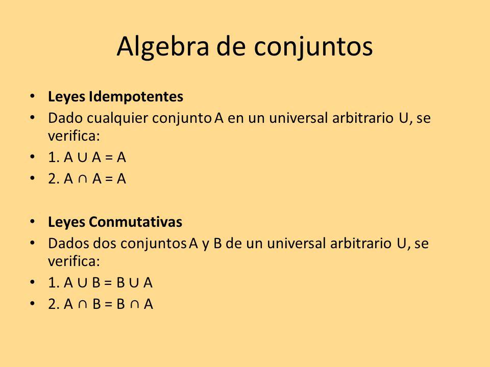 Algebra de conjuntos Leyes Idempotentes