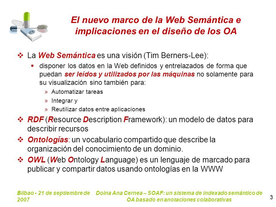 El nuevo marco de la Web Semántica e implicaciones en el diseño de los OA