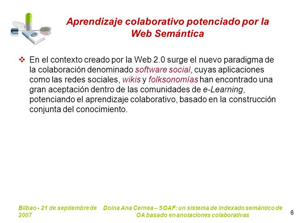 Aprendizaje colaborativo potenciado por la Web Semántica