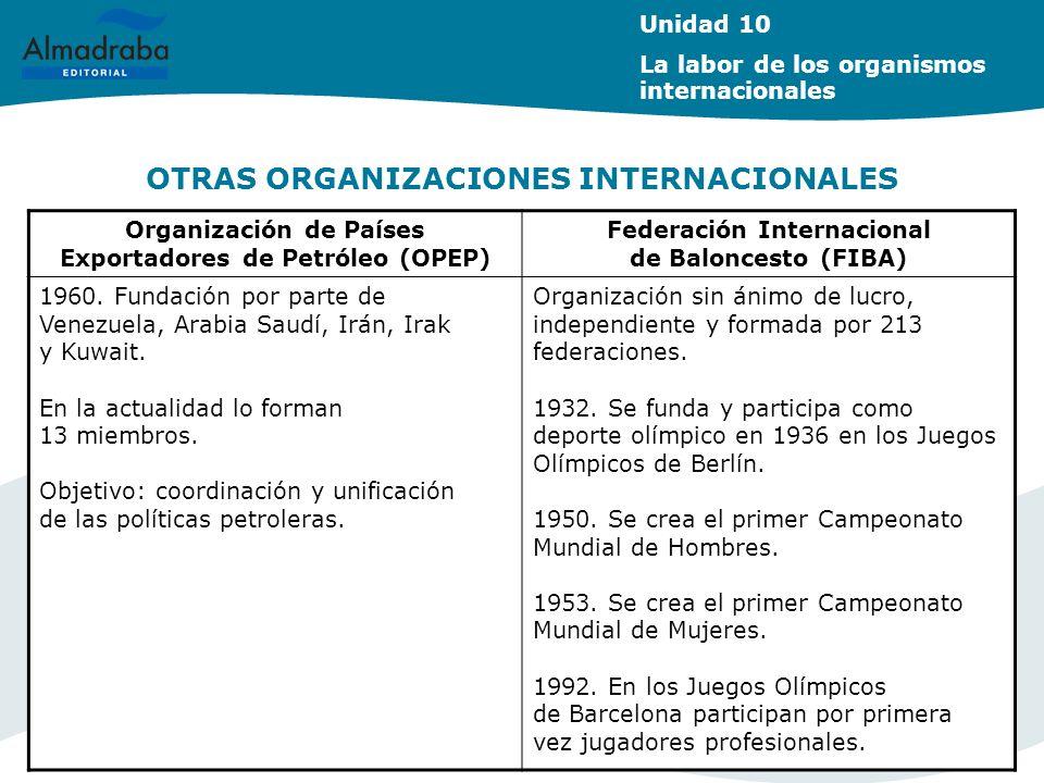 OTRAS ORGANIZACIONES INTERNACIONALES