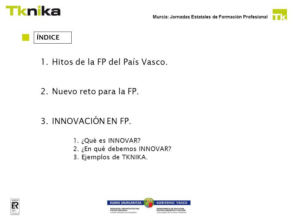 Hitos de la FP del País Vasco.