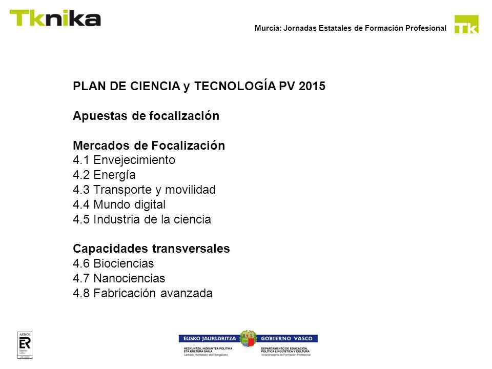 PLAN DE CIENCIA y TECNOLOGÍA PV 2015