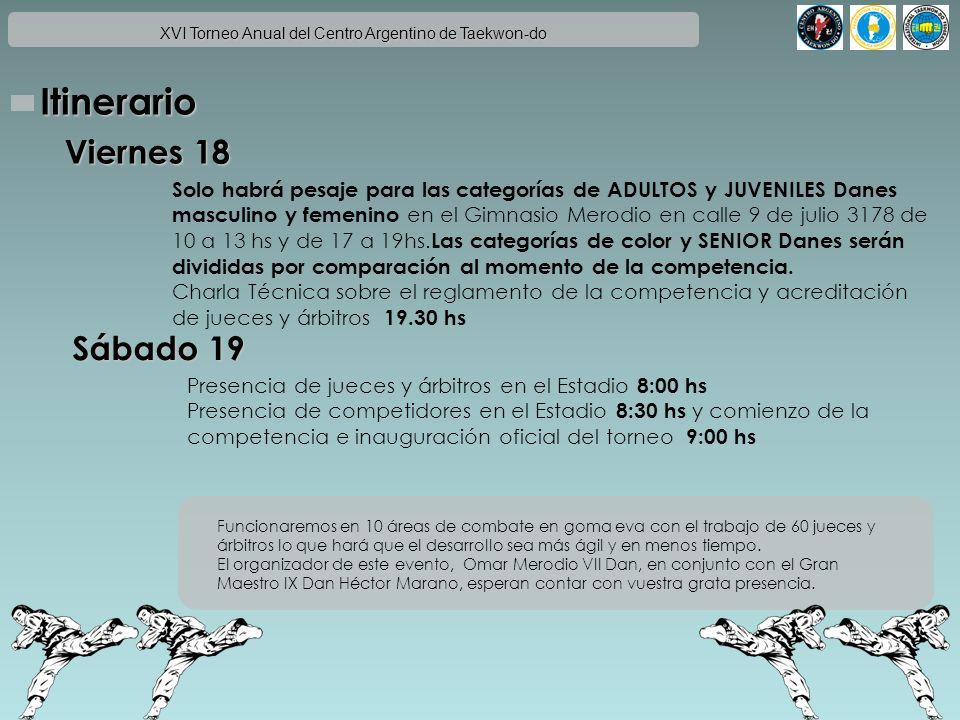 XVI Torneo Anual del Centro Argentino de Taekwon-do