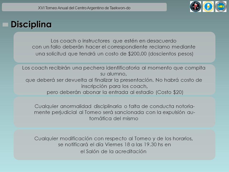 Disciplina Los coach o instructores que estén en desacuerdo