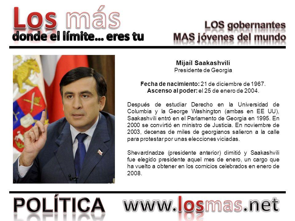 Mijaíl Saakashvili Presidente de Georgia