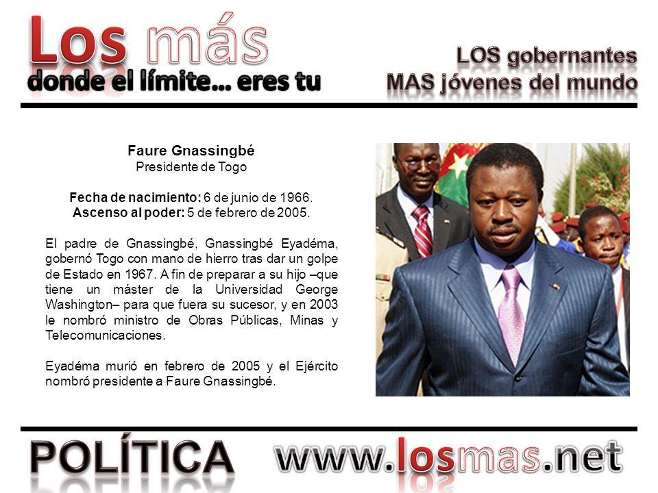 Faure Gnassingbé Presidente de Togo
