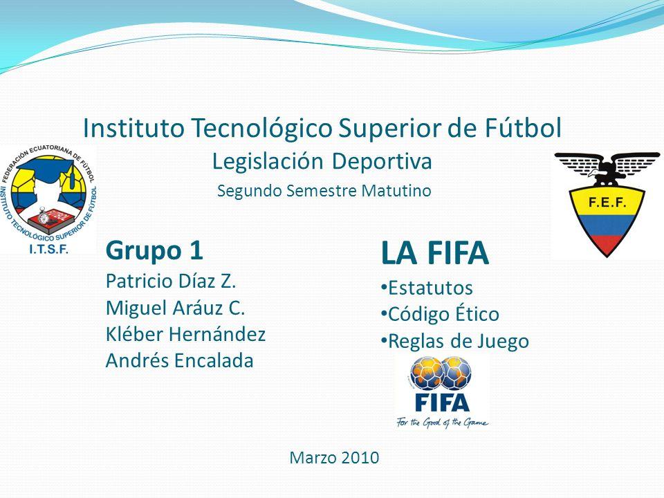 Instituto Tecnológico Superior de Fútbol Legislación Deportiva Segundo Semestre Matutino