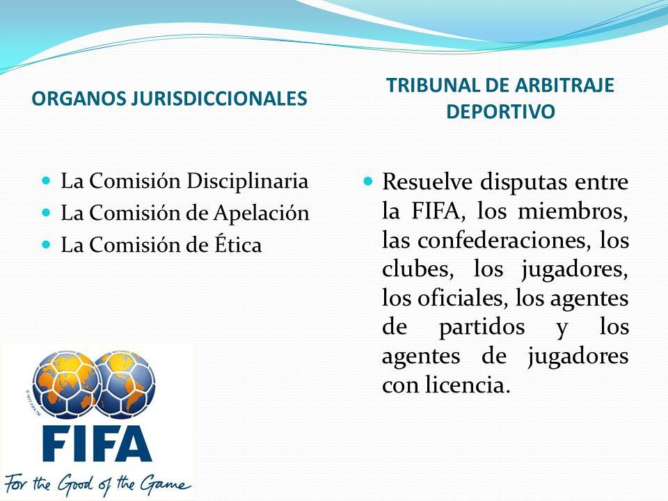 ORGANOS JURISDICCIONALES TRIBUNAL DE ARBITRAJE DEPORTIVO