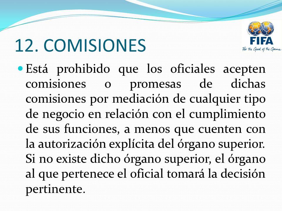 12. COMISIONES