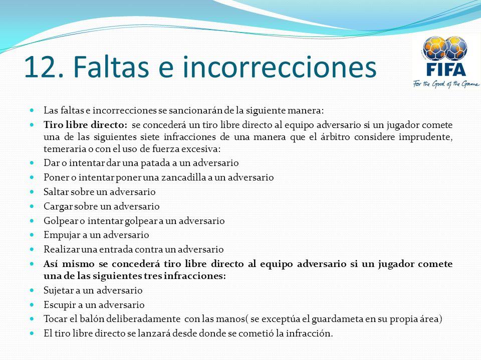12. Faltas e incorrecciones