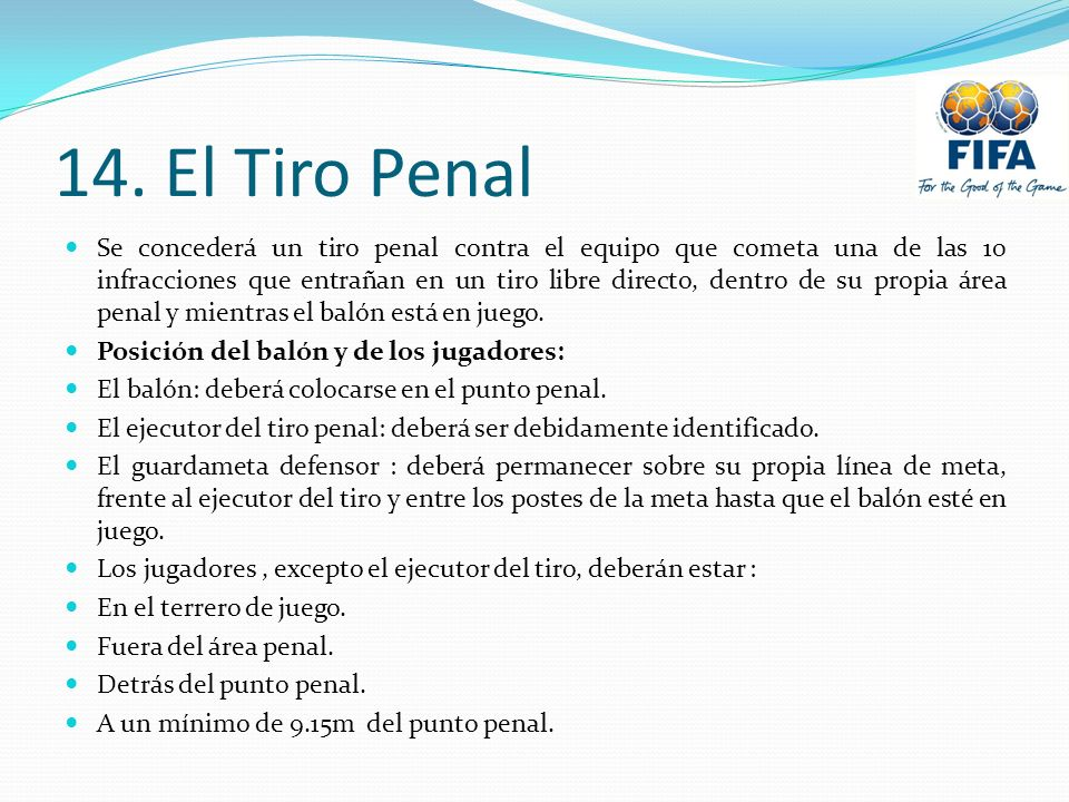 14. El Tiro Penal