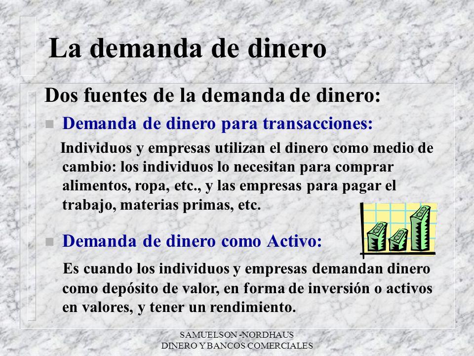 DINERO Y BANCOS COMERCIALES