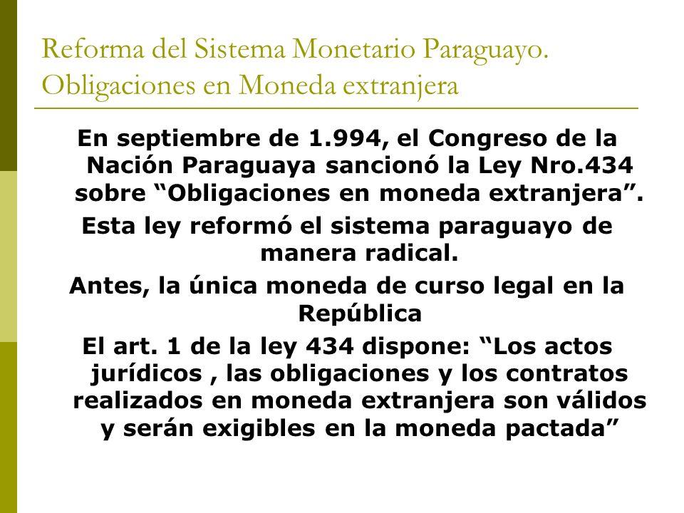 Reforma del Sistema Monetario Paraguayo