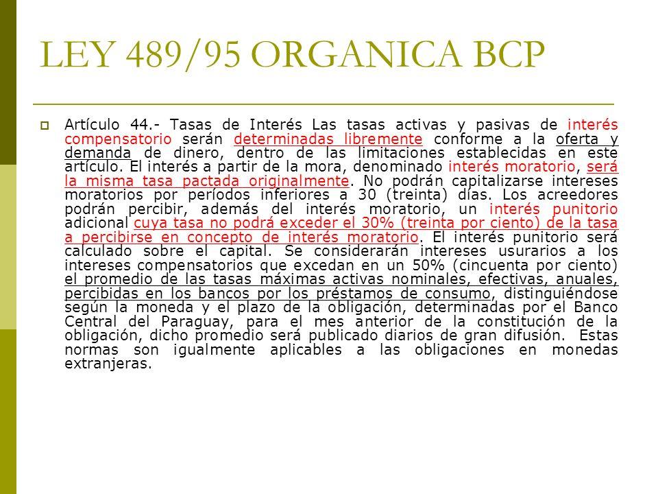 LEY 489/95 ORGANICA BCP