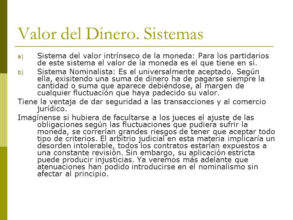 Valor del Dinero. Sistemas