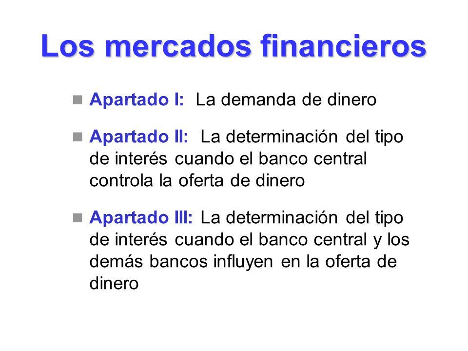 Los mercados financieros