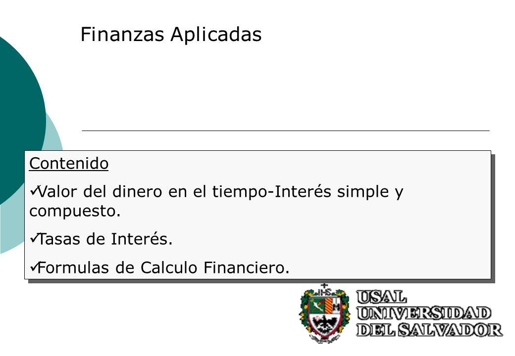 Finanzas Aplicadas Contenido