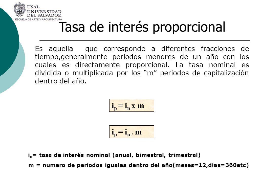 Tasa de interés proporcional
