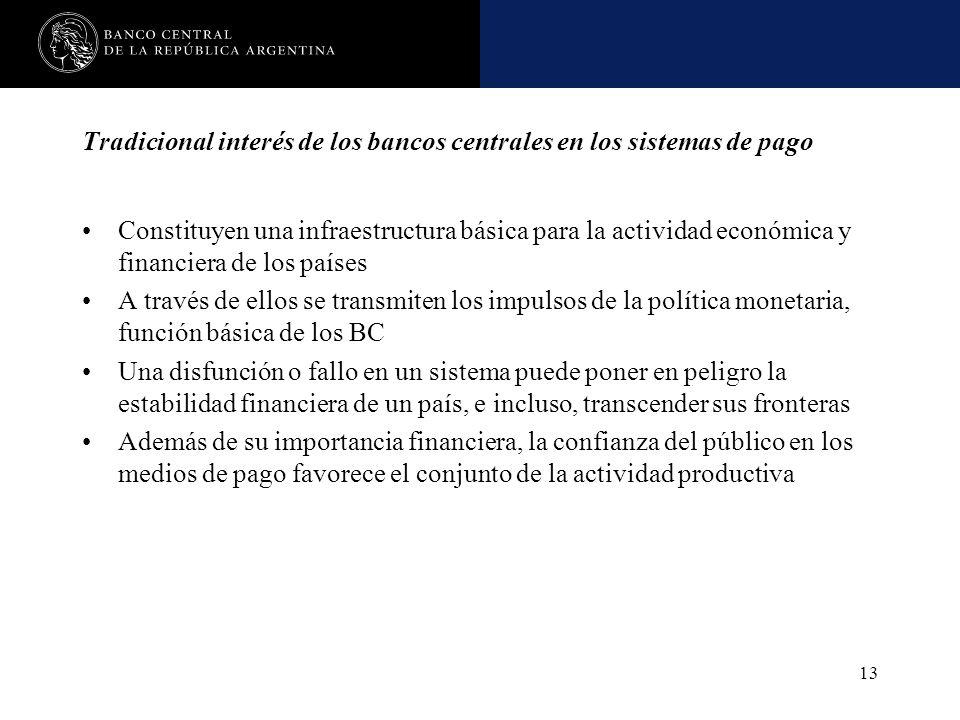 Tradicional interés de los bancos centrales en los sistemas de pago