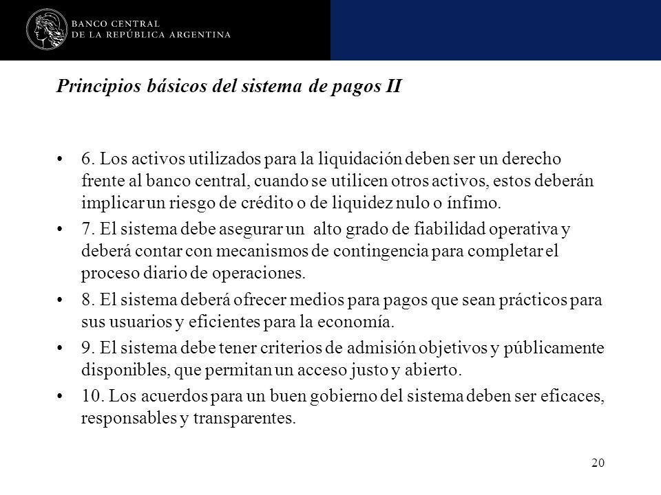 Principios básicos del sistema de pagos II