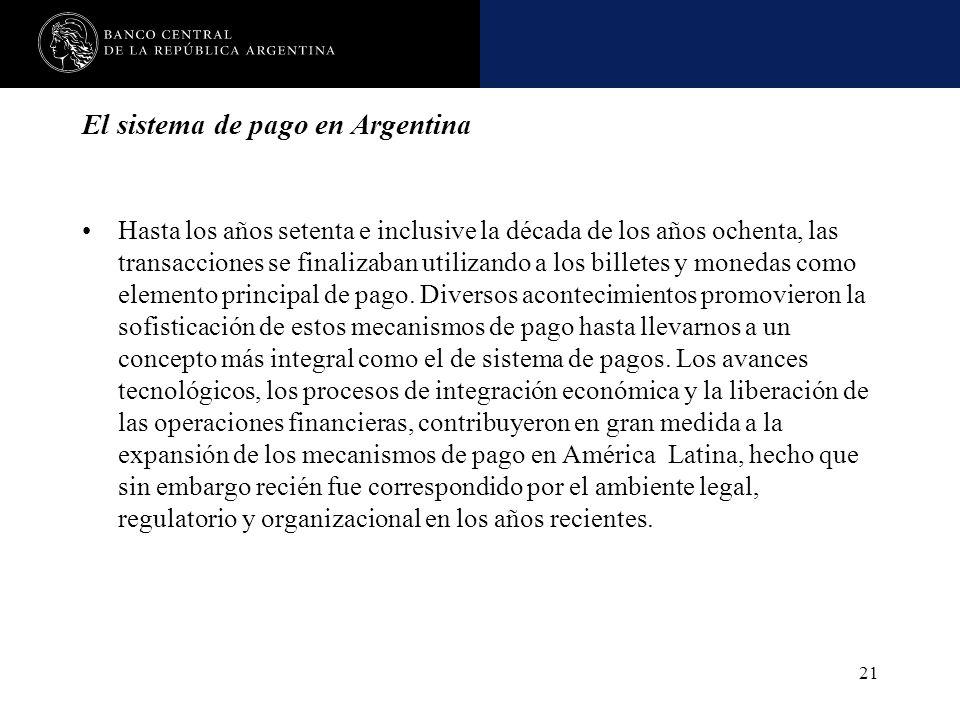 El sistema de pago en Argentina
