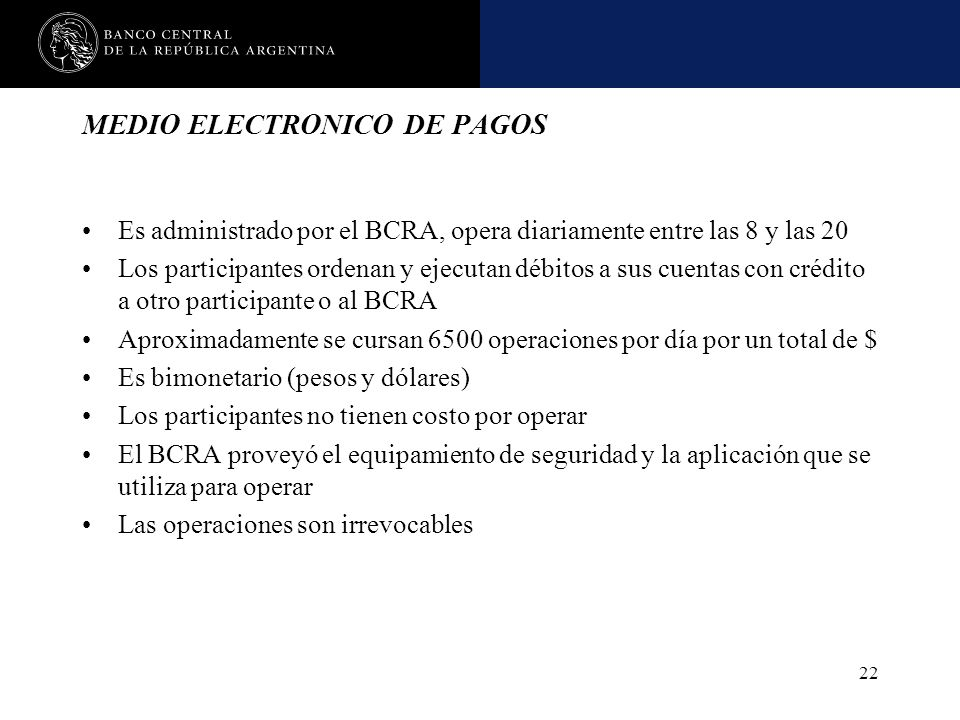 MEDIO ELECTRONICO DE PAGOS
