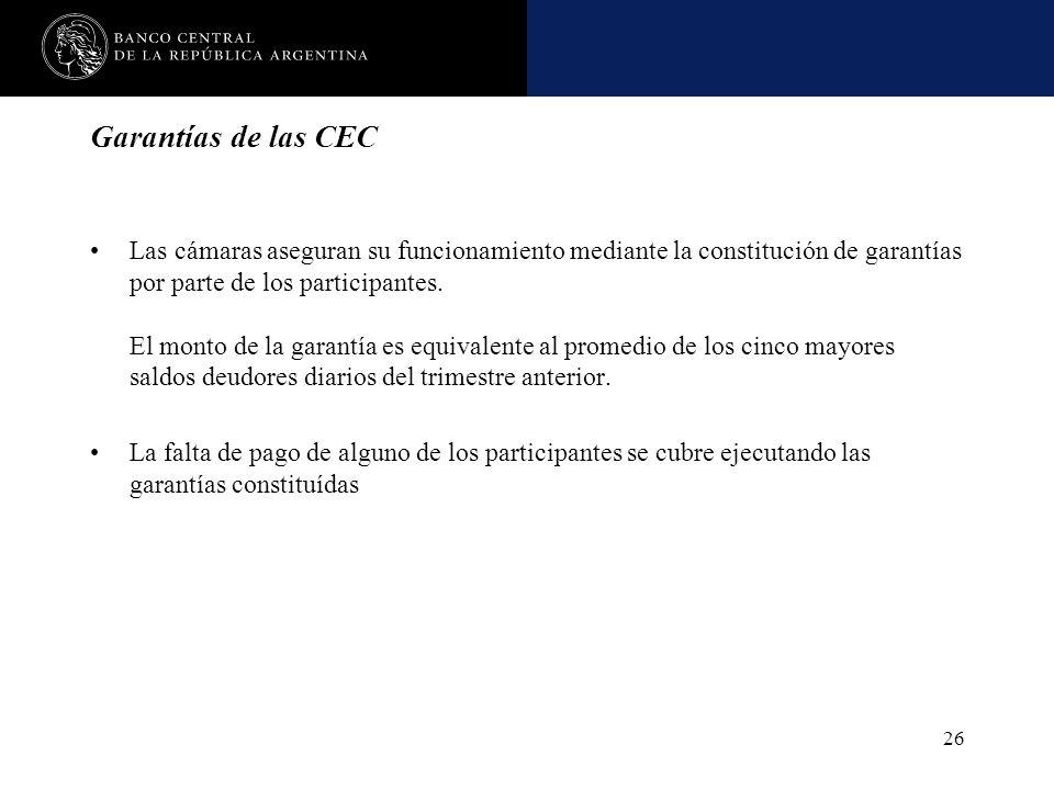 Garantías de las CEC
