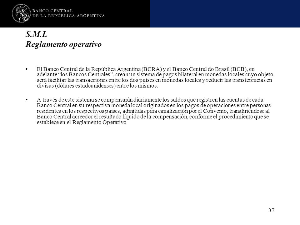 S.M.L Reglamento operativo