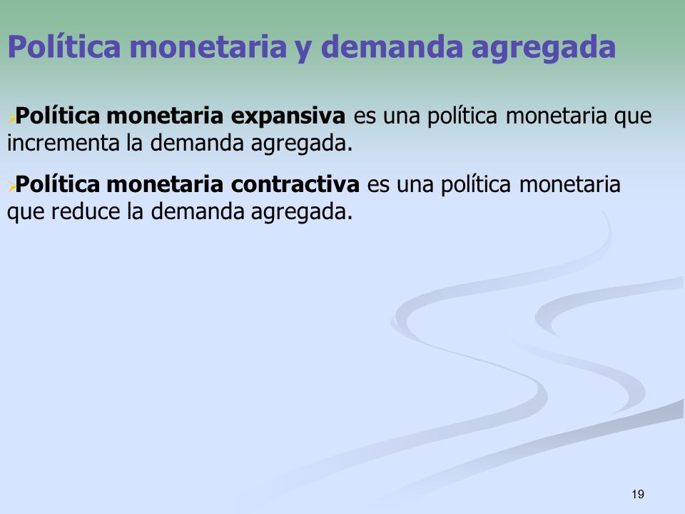 Política monetaria y demanda agregada