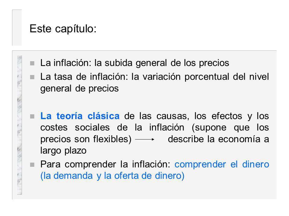 Este capítulo: La inflación: la subida general de los precios